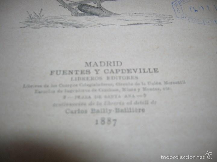 Libros antiguos: Muy interesante libro Agricultura,por Lopez Vidaur .Segunda edición ,año 1887 - Foto 3 - 57690274