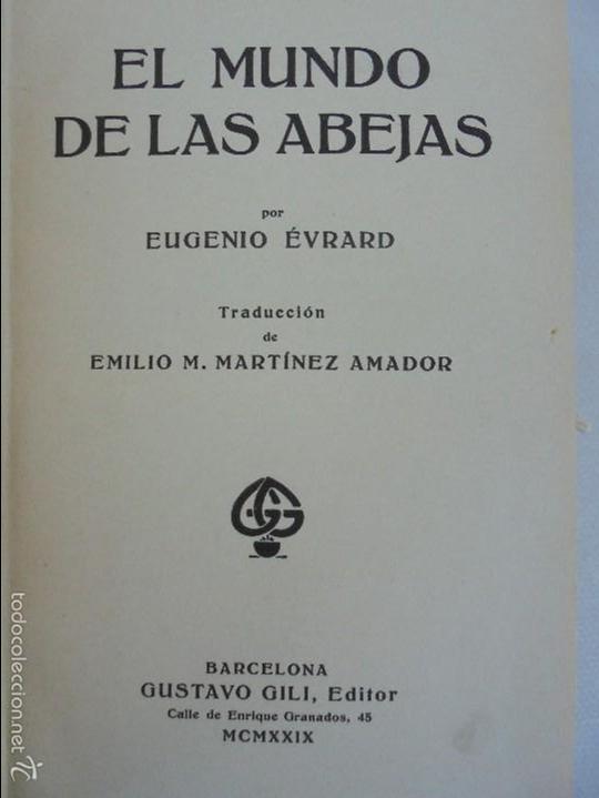 Libros antiguos: COLECCION DE LIBROS SOBRE INSECTOS. TODOS FOTOGRAFIADOS. 3 LIBROS SOBRE ABEJAS. 13 LIBROS EN TOTAL. - Foto 12 - 57691855