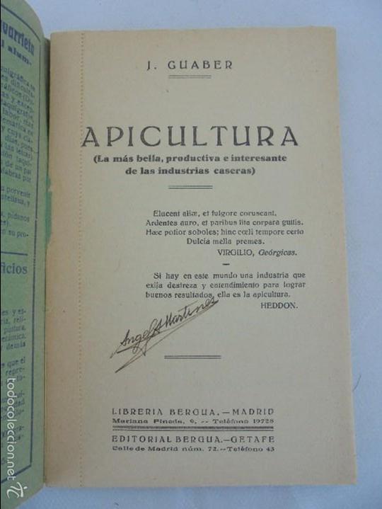Libros antiguos: COLECCION DE LIBROS SOBRE INSECTOS. TODOS FOTOGRAFIADOS. 3 LIBROS SOBRE ABEJAS. 13 LIBROS EN TOTAL. - Foto 18 - 57691855