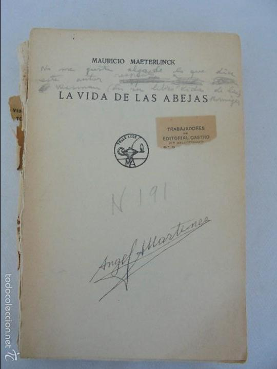 Libros antiguos: COLECCION DE LIBROS SOBRE INSECTOS. TODOS FOTOGRAFIADOS. 3 LIBROS SOBRE ABEJAS. 13 LIBROS EN TOTAL. - Foto 24 - 57691855