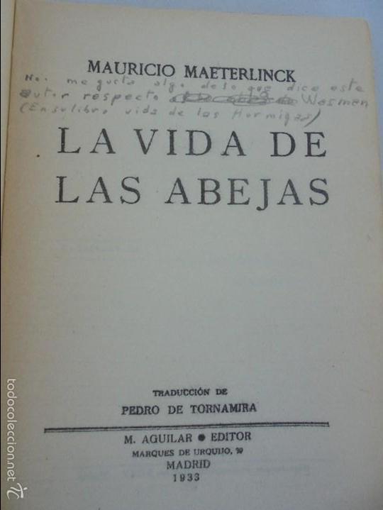 Libros antiguos: COLECCION DE LIBROS SOBRE INSECTOS. TODOS FOTOGRAFIADOS. 3 LIBROS SOBRE ABEJAS. 13 LIBROS EN TOTAL. - Foto 25 - 57691855