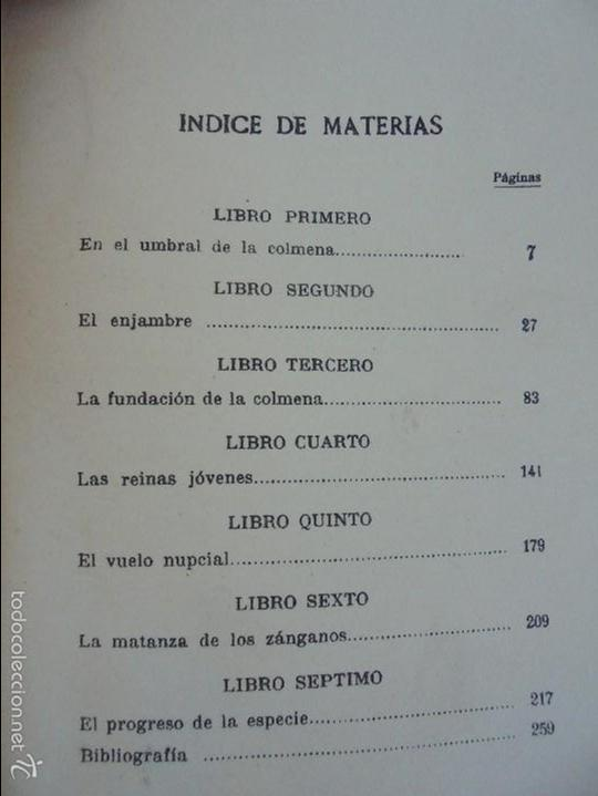 Libros antiguos: COLECCION DE LIBROS SOBRE INSECTOS. TODOS FOTOGRAFIADOS. 3 LIBROS SOBRE ABEJAS. 13 LIBROS EN TOTAL. - Foto 28 - 57691855
