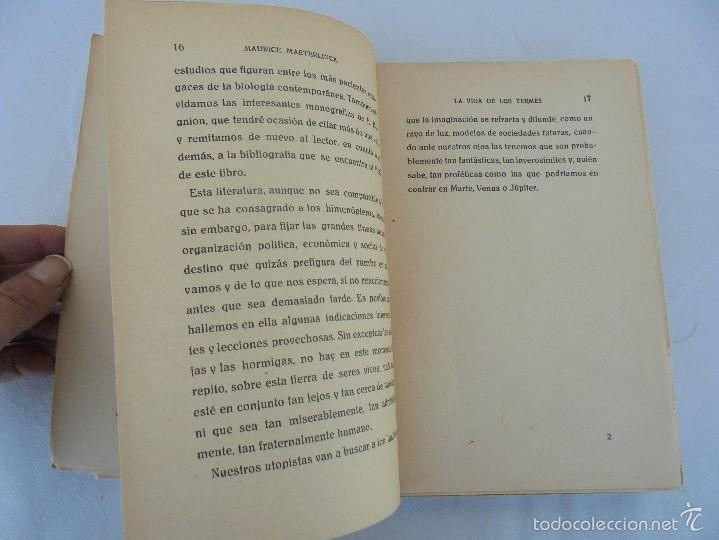 Libros antiguos: COLECCION DE LIBROS SOBRE INSECTOS. TODOS FOTOGRAFIADOS. 3 LIBROS SOBRE ABEJAS. 13 LIBROS EN TOTAL. - Foto 33 - 57691855