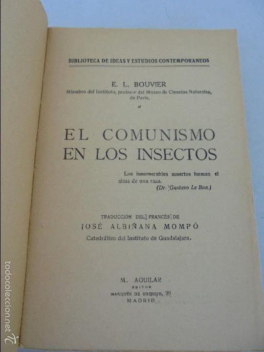 Libros antiguos: COLECCION DE LIBROS SOBRE INSECTOS. TODOS FOTOGRAFIADOS. 3 LIBROS SOBRE ABEJAS. 13 LIBROS EN TOTAL. - Foto 62 - 57691855