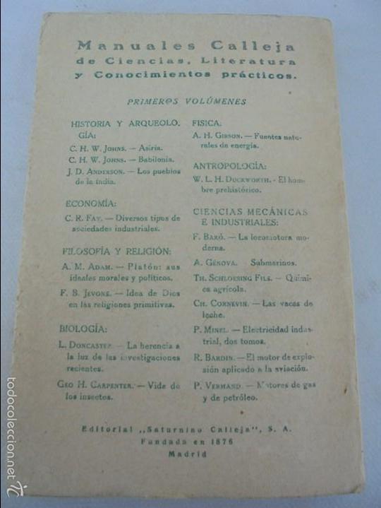 Libros antiguos: COLECCION DE LIBROS SOBRE INSECTOS. TODOS FOTOGRAFIADOS. 3 LIBROS SOBRE ABEJAS. 13 LIBROS EN TOTAL. - Foto 95 - 57691855