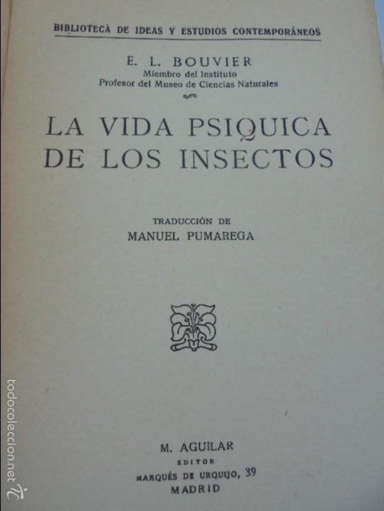 Libros antiguos: COLECCION DE LIBROS SOBRE INSECTOS. TODOS FOTOGRAFIADOS. 3 LIBROS SOBRE ABEJAS. 13 LIBROS EN TOTAL. - Foto 97 - 57691855