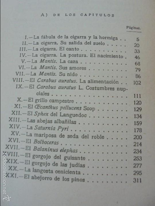 Libros antiguos: COLECCION DE LIBROS SOBRE INSECTOS. TODOS FOTOGRAFIADOS. 3 LIBROS SOBRE ABEJAS. 13 LIBROS EN TOTAL. - Foto 109 - 57691855