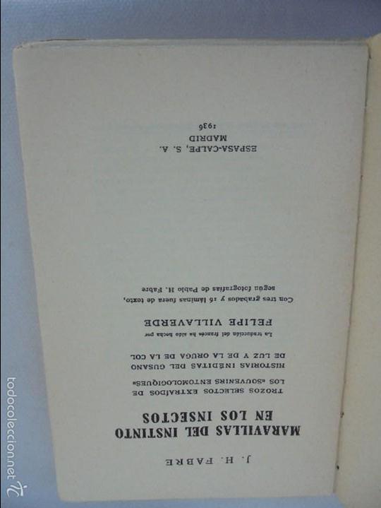 Libros antiguos: COLECCION DE LIBROS SOBRE INSECTOS. TODOS FOTOGRAFIADOS. 3 LIBROS SOBRE ABEJAS. 13 LIBROS EN TOTAL. - Foto 114 - 57691855