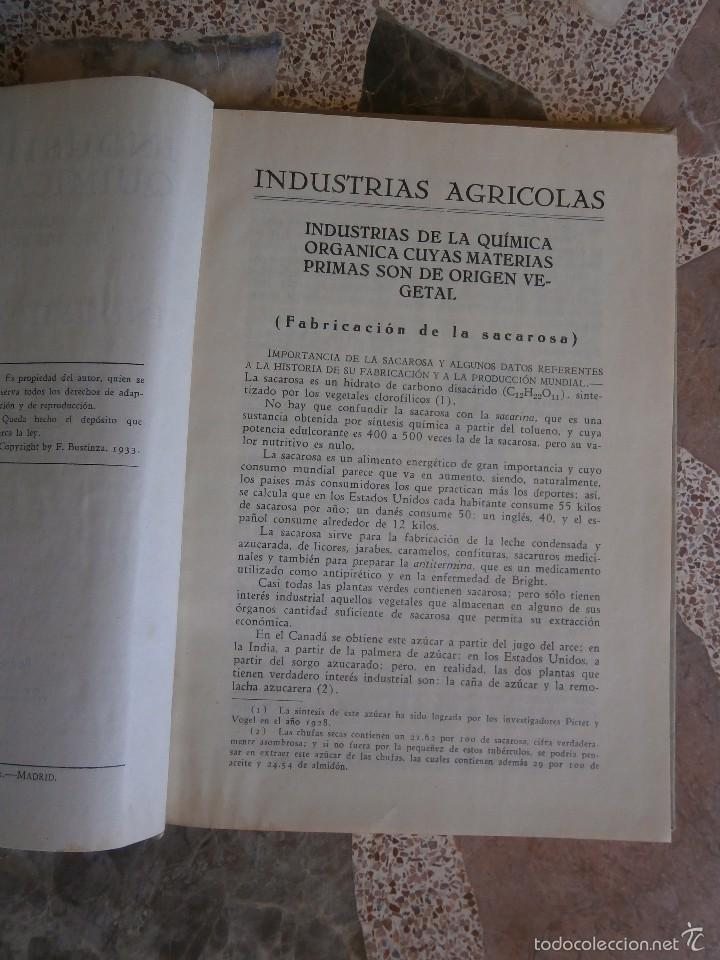Libros antiguos: industrias agricolas por f.bustinza lachiondo año 1933 - Foto 2 - 57706052