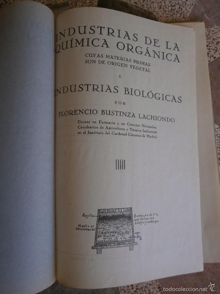 Libros antiguos: industrias agricolas por f.bustinza lachiondo año 1933 - Foto 3 - 57706052