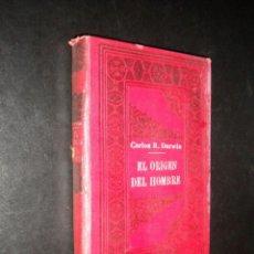 Libros antiguos: EL ORIGEN DEL HOMBRE / DARWIN / S/F CIRCA 1910 / SEMPERE Y COMPAÑIA. Lote 57972375