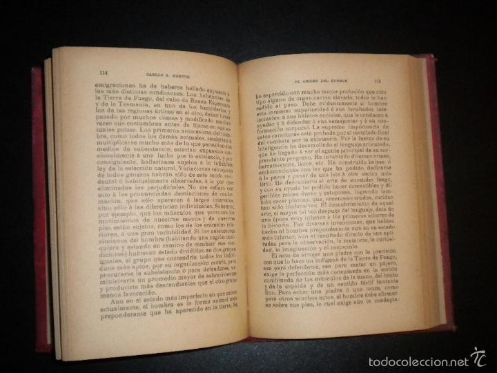 Libros antiguos: el origen del hombre / darwin / s/f circa 1910 / sempere y compañia - Foto 2 - 57972375