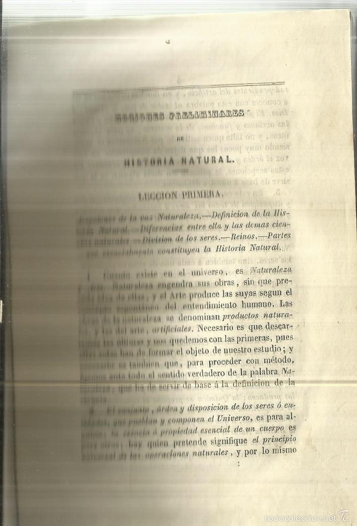 Libros antiguos: MANUAL DE HISTORIA NATURAL. MANUEL MARÍA JOSÉ DE GALDO. IMP. D.B. GONZÁLEZ. MADRID. 1853 - Foto 4 - 58091284