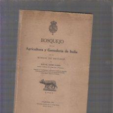 Libros antiguos: BOSQUEJO DE LA AGRICULTURA Y GANADERÍA DE ITALIA./ RAFAEL JANINI JANINI, -ED. AÑO . 1921. Lote 58332100