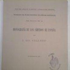 Livros antigos: MONOGRAFIA DE LOS SIRFIDOS DE ESPAÑA. Lote 58566973