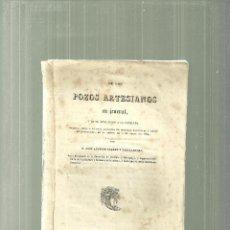 Libros antiguos: 2357.- POZOS ARTESIANOS EN GENERAL Y SU APLICACION EN CATALUÑA-AGUAS SUBTERRANEAS. Lote 58603952