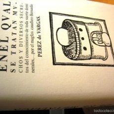 Libros antiguos: DE RE METALICA- PEREZ DE VARGAS. NUMERADO 000375- CONSEJO SUP. INGENIEROS DE MINAS-. Lote 59658675
