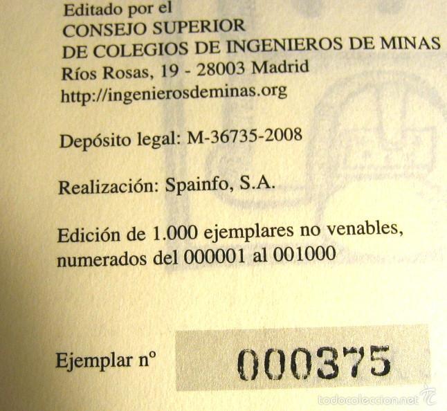 Libros antiguos: DE RE METALICA- Perez de Vargas. Numerado 000375- Consejo Sup. Ingenieros de Minas- - Foto 6 - 59658675