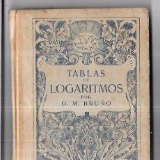 Libros antiguos: TABLAS DE LOGARITMOS POR G. M. BRUÑO. BARCELONA. 240PAGS. 17,2 X 12 CM.. Lote 67351463