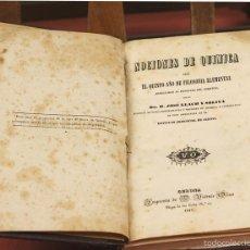 Libros antiguos: 7955 - NOCIONES DE QUÍMICA 5º AÑO DE FILOSOFÍA. JOSÉ LLACH. IMP. V. OLIVA 1847.. Lote 60590215