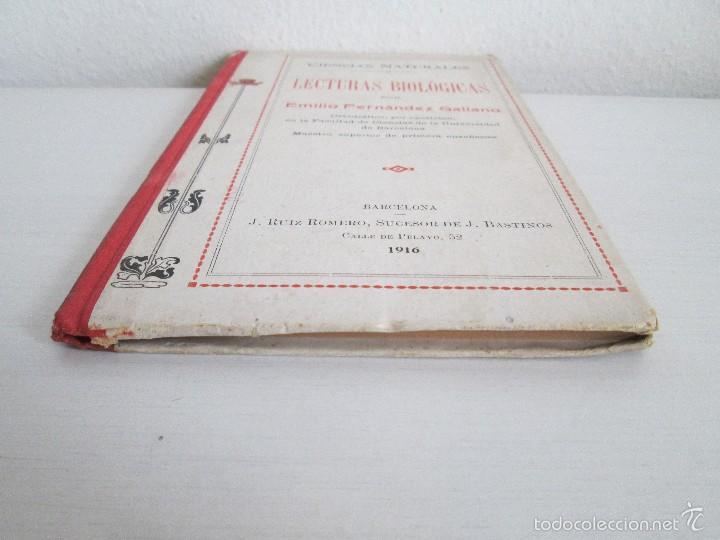 Libros antiguos: LECTURAS BIOLOGICAS. EMILIO FERNANDEZ GALIANO. CIENCIAS NATURALES. 1916. VER FOTOS - Foto 3 - 60674663