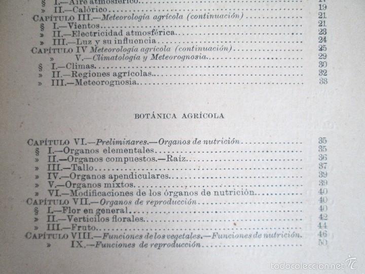 Libros antiguos: AGRICULTURA Y TECNICA AGRICOLA INDUSTRIAL. PRIMERA Y SEGUNDA PARTE. REQUEJO Y TORTOSA. - Foto 11 - 61012467