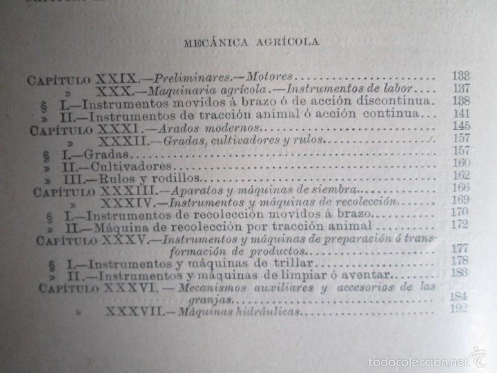 Libros antiguos: AGRICULTURA Y TECNICA AGRICOLA INDUSTRIAL. PRIMERA Y SEGUNDA PARTE. REQUEJO Y TORTOSA. - Foto 13 - 61012467