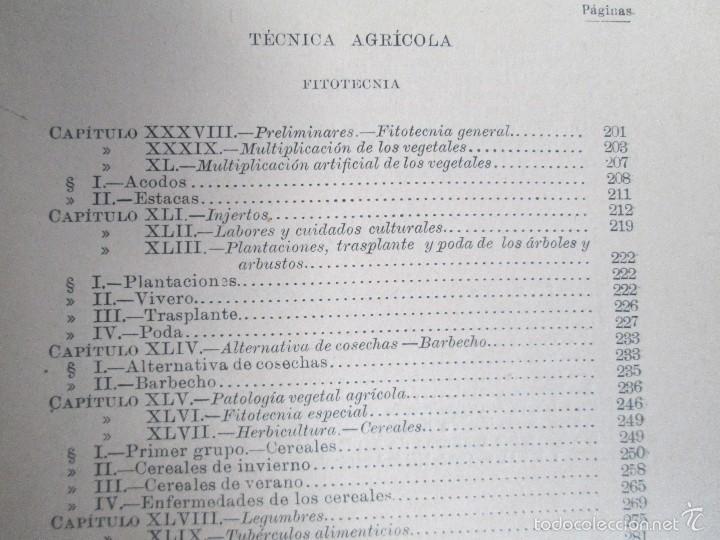 Libros antiguos: AGRICULTURA Y TECNICA AGRICOLA INDUSTRIAL. PRIMERA Y SEGUNDA PARTE. REQUEJO Y TORTOSA. - Foto 14 - 61012467