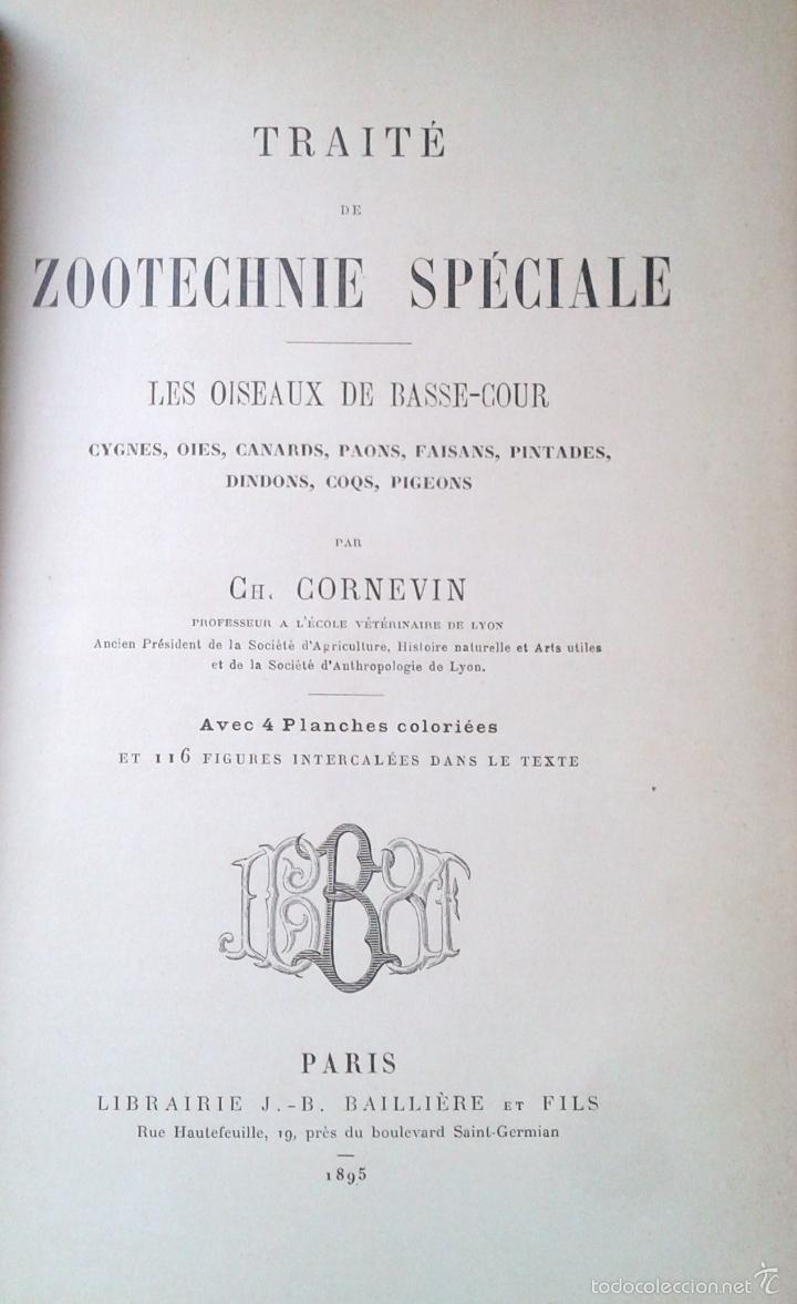 Libros antiguos: Traité de Zootechnie Spéciale- Ch. Cornevin - París 1895 - Foto 2 - 61272895