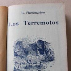 Libros antiguos: LOS TERREMOTOS Y LA ERUPCIÓN DEL KRAKATOA. CAMILO FLAMMARIÓN. 1911 BIB DE ARMANDO COTARELO VALLEDOR. Lote 61889200