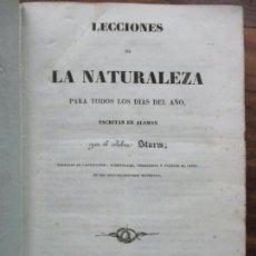 Libros antiguos: LECCIONES DE LA NATURALEZA PARA TODOS LOS DÍAS DEL AÑO. STURM. 1841.. Lote 62054644