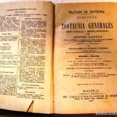 Libros antiguos: LIBRO TRATADO DE ZOOTECNIA DE ANDRES SANSON TOMO II. Lote 62544752