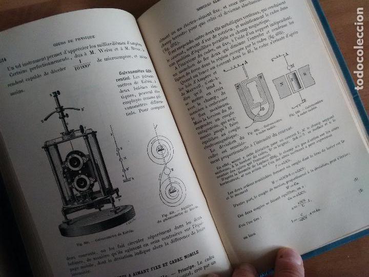Libros antiguos: COURS DE PHYSIQUE. CLASSE DE PREMIÉRE. (FÍSICA ÓPTICA Y ELECTRICIDAD AÑO 1902 TEXTO EN FRANCÉS) - Foto 3 - 62990772