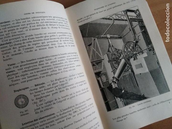 Libros antiguos: COURS DE PHYSIQUE. CLASSE DE PREMIÉRE. (FÍSICA ÓPTICA Y ELECTRICIDAD AÑO 1902 TEXTO EN FRANCÉS) - Foto 4 - 62990772