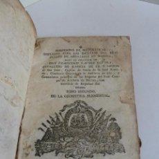 Libros antiguos: COMPENDIO DE MATEMÁTICAS PARA LAS ESCUELAS DEL REAL CUERPO DE ARTILLERIA DE MARINA. TOMO 2, 1785. Lote 63263604