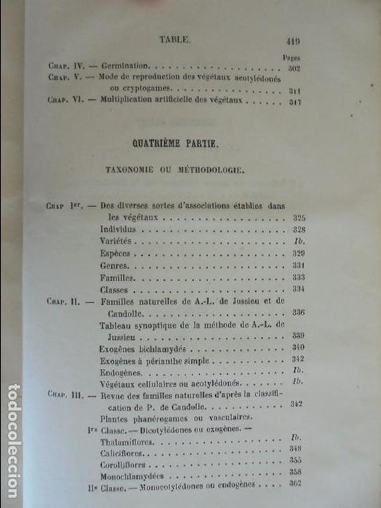 Libros antiguos: BOTANIQUE ET PHYSIOLOGIE VEGETALE. L.F. JEHAN. MANE ET 1847. VER FOTOGRAFIAS ADJUNTAS. - Foto 33 - 64168795