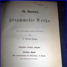 Libros antiguos: AÑO 1875. LIBRO DE CHARLES DARWIN, ILUSTRADO.. Lote 64367595