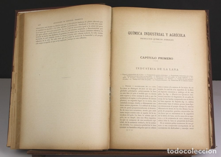 Libros antiguos: 8140 - QUÍMICA (INDUSTRIAL Y AGRÍCOLA). TOMOS I Y II(VER DESCRIP). EDIT. J. NACENTE. S/F. - Foto 3 - 64656627