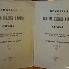 Libros antiguos: CONCHAS BIVALVAS DE ESPAÑA Y PORTUGAL, DOS TOMOS,1933,GEOLOGÍA Y MINERÍA . Lote 64752269
