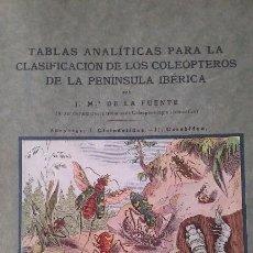 Libros antiguos: TABLAS ANALÍTICAS PARA LA CLASIFICACIÓN DE LOS COLEOPTEROS DE LA PENÍNSULA IBERICA - AÑO DE 1927. Lote 65062447