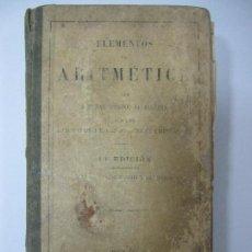 Libros antiguos: ELEMENTOS DE ARITMÉTICA. PARIS. PROCURADURÍA GENERAL. 389 PAGINAS. 18,3X11CM. 388 PAGINAS. Lote 67082629