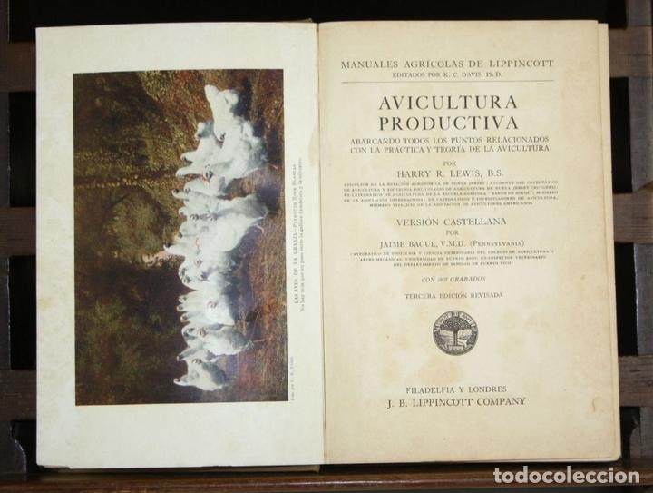 Libros antiguos: 8236 - AVICULTURA PRODUCTIVA. HARRY R. LEWIS. EDIT. J. B. LIPPINCOTT COMPANY. S/F. - Foto 2 - 68239769