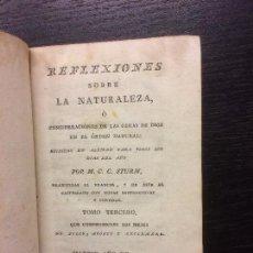 Livres anciens: REFLEXIONES SOBRE LA NATURALEZA, M. C. STURM, 1794. Lote 68670373