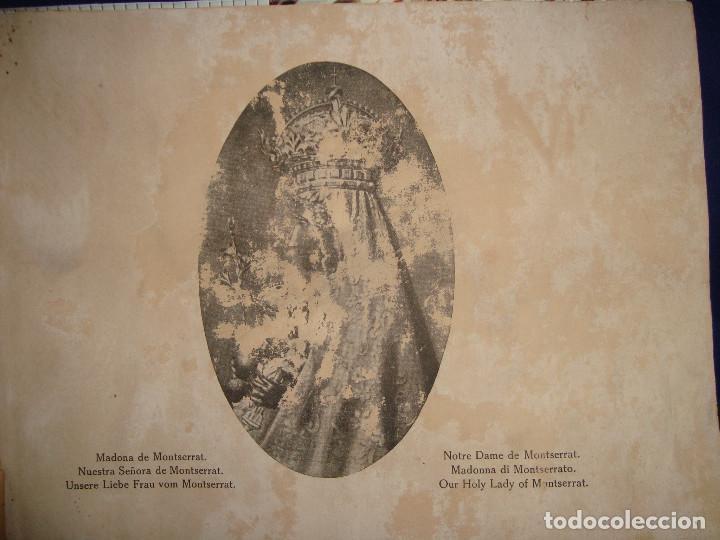 Libros antiguos: Libro histórico de montserrat escrito en 6 idiomas 130 pag. impresor oliva de vilanova Barcelona - Foto 3 - 68940037
