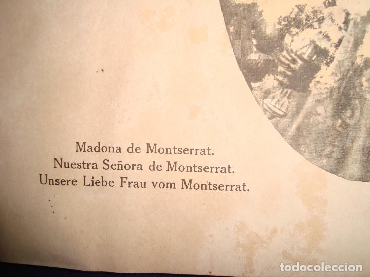 Libros antiguos: Libro histórico de montserrat escrito en 6 idiomas 130 pag. impresor oliva de vilanova Barcelona - Foto 4 - 68940037