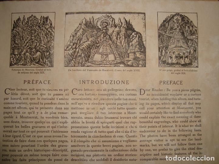 Libros antiguos: Libro histórico de montserrat escrito en 6 idiomas 130 pag. impresor oliva de vilanova Barcelona - Foto 5 - 68940037