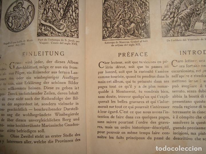 Libros antiguos: Libro histórico de montserrat escrito en 6 idiomas 130 pag. impresor oliva de vilanova Barcelona - Foto 6 - 68940037