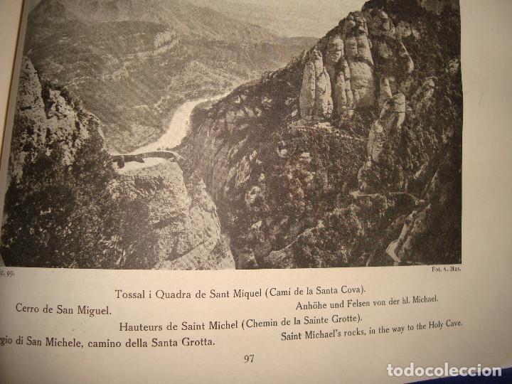 Libros antiguos: Libro histórico de montserrat escrito en 6 idiomas 130 pag. impresor oliva de vilanova Barcelona - Foto 7 - 68940037