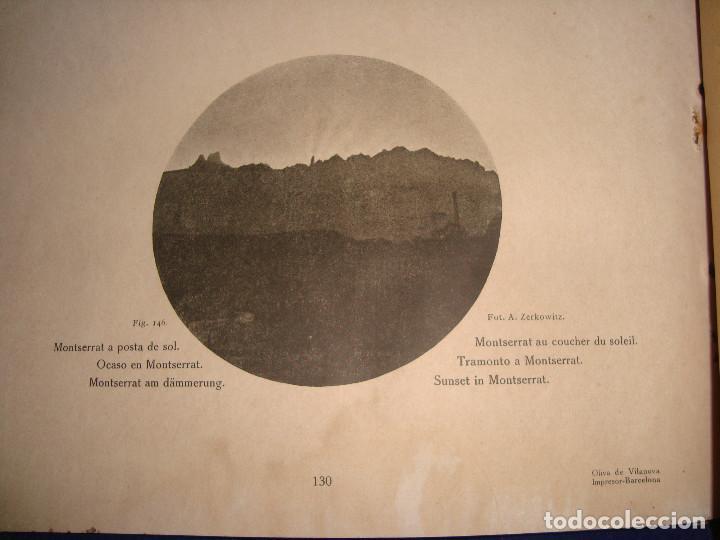 Libros antiguos: Libro histórico de montserrat escrito en 6 idiomas 130 pag. impresor oliva de vilanova Barcelona - Foto 8 - 68940037
