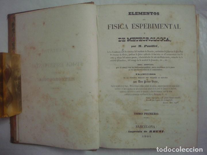 M.POUIITLET, ELEMENTOS DE FÍSICA EXPERIMENTAL. 1841. MULTITUD DE GRABADOS. FOLIO. (Libros Antiguos, Raros y Curiosos - Ciencias, Manuales y Oficios - Física, Química y Matemáticas)